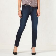 Women's LC Lauren Conrad Jeggings, Size: 12 T/L, Blue