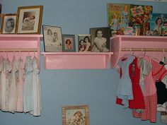 Beautiful 1950s style baby room.