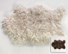 tapis poils longs façon peau de mouton - Becquet