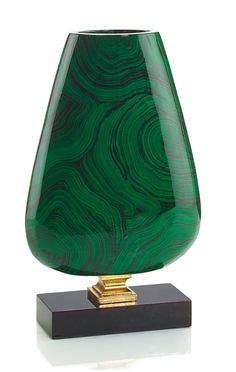 Luxury Wedding Gift Ideas, Designer Green Malachite & Gold Vase, so beautiful, one of over 3,000 limited production interior design inspirations inc, furniture, lighting, mirrors, tabletop accents and gift ideas to enjoy repin and share at InStyle Decor Beverly Hills Hollywood Luxury Home Decor enjoy & happy pinning