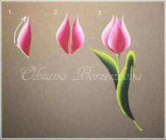 tulips #nailart #flowers