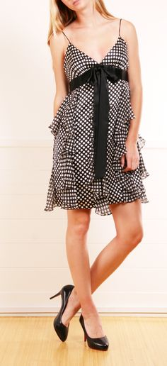 Milly Polka Dot Dress