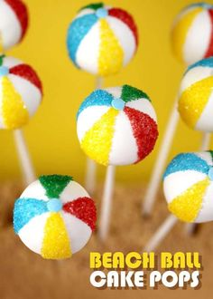 Pool Party-Inspired Bites - These Beach Ball Cake Pops Were Made for the Summer Season (GALLERY)