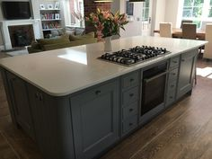 Open Plan Kitchen, Kitchen Ideas, Kitchen Design, Bespoke Kitchens, Kitchen Islands, Van Gogh, Oven, New Homes, Quartz