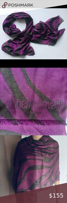 Stylish narrow elastin scarf in a unique circular pattern brown and grey