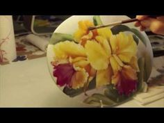 ▶ Pintura sobre porcelana: Orquídeas - YouTube - China Painting - Orchids