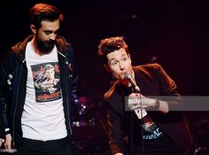 Dan Smith and Kyle Simmons of Bastille accept the Best Track Award during The Stubhub Q Awards 2016 at The Roundhouse on November 2, 2016 in London, England.