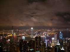 A view from Victoria's Peak on Hong Kong Island