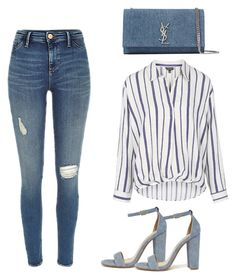 """""""Untitled #128"""" by museavenue on Polyvore featuring Yves Saint Laurent, Topshop and Steve Madden"""