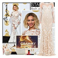 """Beyoncé - Grammy Awards 2014"" by fashionistlady ❤ liked on Polyvore featuring Prada, Jimmy Choo, Zuhair Murad, Christian Louboutin, Tom Ford, Bobbi Brown Cosmetics, Versace, Eddie Borgo, Jacquie Aiche and RedCarpet"