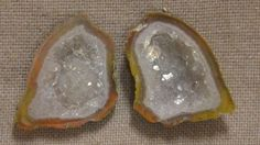 Tabasco Geode 1 Pair Cut and Polished Great for Jewelry 79938
