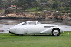 Vicente del Valle - Madera y Motor: Un bello auto de ensueño: Hispano-Suiza H6C Dubonnet Xenia Saoutchik Coupé (1.938).