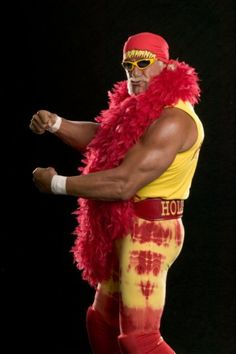 Picture: Hulk Hogan on NBC's 'American Gladiators.' Pic is in a photo gallery for Hulk Hogan featuring 14 pictures. Hulk Hogan Costume, Hulk Hogan Halloween Costume, Wwe Hulk Hogan, Halloween Costumes, Diy Halloween, Watch Wrestling, Wrestling Wwe, Wrestling Stars, Fifa