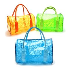 PVC Dot Fitness Swimming Shopping Bag Beach Handbag Totes Fashion Waterproof Portable Jelly Bag Cheap - NewChic Mobile.