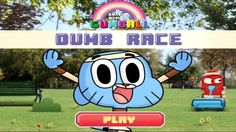 In Gumball Dumb Race, Run through the park without crashing into your pals! In dumb race, gumball is wearing a blindfold while sprinting. Your job is to tell gumball when to jump over obstacles or stay on the ground. Look out for Tobias and Hector! Help gumball to jump over the obstacles ahead. Have fun!