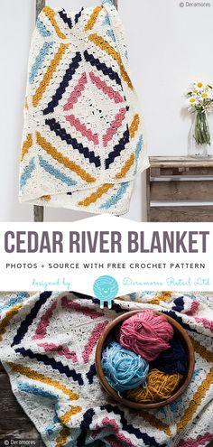 Cedar River Blanket Free Crochet Pattern
