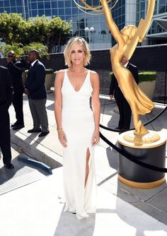 Kristin Wiig in Vera Wang at the 2014 Emmys Red Carpet