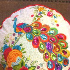 Peacock pillow <3