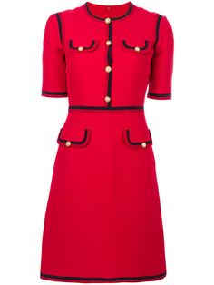 Luxury & Vintage Madrid offers you the best selection of contemporary and classic clothing in the world. Crepe Dress, Ruffle Dress, Gucci Dress, Gucci Gucci, Stage Outfits, Fashion Outfits, Red Black Dress, Dior, Wool Dress