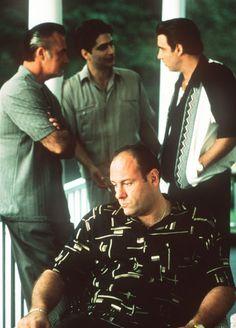 "james gandolfini, tony sirico, michael imperioli and steven van zandt in ""the sopranos"""
