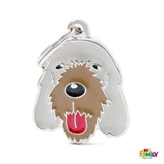 Show details for Italian Spinone Dog Tag Free incision www.myfamily.it