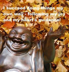Affirmation for Success Buddha . Sandy Penny