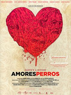 AMORES PERROS (2000): A horrific car accident connects three stories, each…