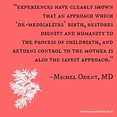 Michael Odent Quote