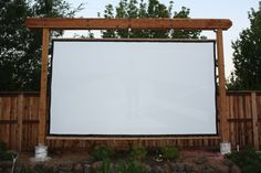 New frame and screen - Backyard Theater Forums #livingwallsoutdoor