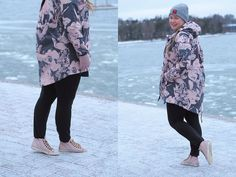 Pitsiniekka | Pink and Grey Sporty Winter Outfit