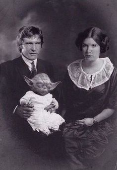 Han Solo And Princess Leia Organa With Baby Yoda | Picture Of The DAY |  Pinterest | Princess leia, Princesses and Babies