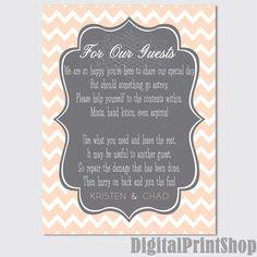 5 x 7 WEDDING Bathroom Basket note/Flat card by DigitalPrintShop, $2.60
