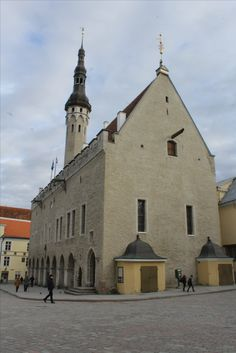 The city hall of Tallinn, Estonia..