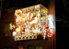 Apartment Balcony Christmas Light Decoration Ideas Balconies Decorating With Lights Themes