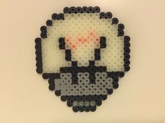 perler bead mushroom Light bulb/off -by Bjrnbr (16x18) perler,hama,square pegboard,video games,nintendo, super mario bros,mushroom,