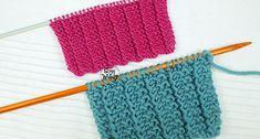 Un punto ideal para tejer bufandas, mantas, cuellos y cualquier otra prenda unisex: es reversible o doble faz, idéntico por ambas caras, no se enrolla ni se enrosca, no necesita bordes, y además es muy fácil de hacer. Se teje en una sola vuelta, dedicado a los principiantes de las dos agujas, tricot o palillos. Knitted Hats, Elsa, Diy Crafts, Knitting, Accessories, Unisex, Happy, Gifs, Templates