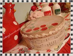 bent wood cheese box cherries by from my cherry heart, via Flickr