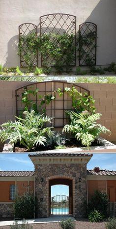 Awesome trellis walls gardens камни и метаРРв саду