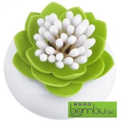 Dóza na vatové tyčinky - Lekno - Gadgety do kúpeľne - Bambu.sk