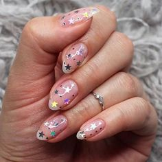 Nail art | Stars | Jewellery | Nails | Inspiration | More on Fashionchick
