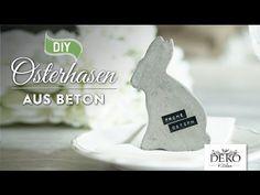 Osterdeko basteln: stylische Deko-Osterhasen aus Beton selber machen – Deko-Kitchen