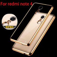 Für redmi note 4 pro case luxus vergoldung crystal clear tpu case für xiaomi redmi note 4 pro prime silicon zurück abdeckungs-fälle
