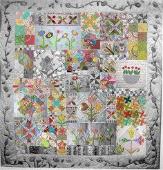 Green Tea and Sweet Beans Quilt - Jen Kingwell pattern