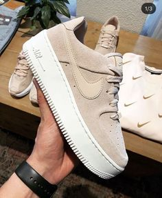 Nike Shoes OFF! ►► Shoes Nike shoes Sneakers Outfit shoes Fashion shoes Sneakers nike - Nike Air Force 1 Sage Low in Beige -