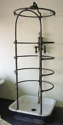 Ribcage shower c 1920  Perfect for outside