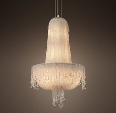 """1930S French Crystal Beaded Chandelier 18"""""""