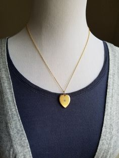 Antique Victorian 14K Solid Gold Diamond Heart by MemoryStation