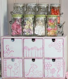My Scrap Room...lots of cute ideas for re-purposing everyday items to use in the workroom...like it!