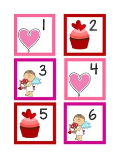 Calendar numbers with hearts, cupcakes and cupids in and ABC pattern. Festive for the month of Valentine's. Kindergarten Calendar, Preschool Calendar, Classroom Calendar, Preschool Bulletin, Calendar 2019 Printable, Calendar Time, Free Printable Calendar, Calendar Ideas, Valentine Day Calendar