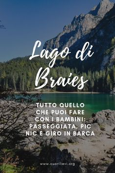 Do you want to go to Lake Braies with your children?- Vuoi andare al Lago di Braies con i tuoi bambini? Do you want to go to Lake Braies with your children? Travel With Kids, Family Travel, Oh The Places You'll Go, Places To Visit, Travel Around The World, Around The Worlds, Hiking Guide, Trekking, Holidays And Events